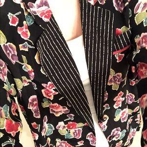 Carole Little Vintage floral blazer size 6